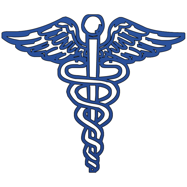Blue caduceus medical symbol clipart image - ipharmd.net