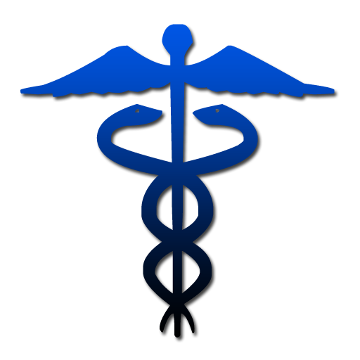 Caduceus symbol blue gradient clip art