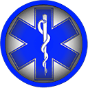 blue star of life symbol round