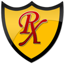 red rx shield clipart