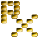 rx symbol gold dots