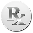 silver rx button